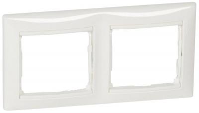 Legrand Valena Белый Рамка 2-ая горизонтальная купить в интернет-магазине Азбука Сантехники