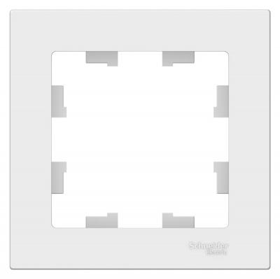 Schneider Electric AtlasDesign Белый Рамка 1-постовая (ATN000101) купить в интернет-магазине Азбука Сантехники