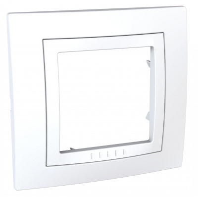 Schneider Electric Unica Белый Рамка 1-ая купить в интернет-магазине Азбука Сантехники