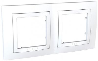Schneider Electric Unica Белый Рамка 2-ая купить в интернет-магазине Азбука Сантехники
