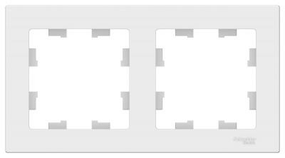 Schneider Electric AtlasDesign Белый Рамка 2-постовая универсальная купить в интернет-магазине Азбука Сантехники