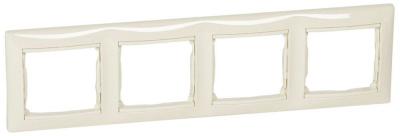 Legrand Valena Слоновая кость Рамка 4-ая горизонтальная купить в интернет-магазине Азбука Сантехники