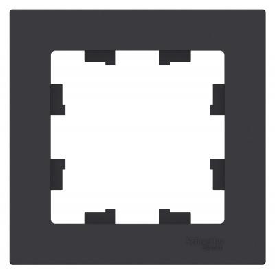 Schneider Electric AtlasDesign Карбон Рамка 1-постовая купить в интернет-магазине Азбука Сантехники