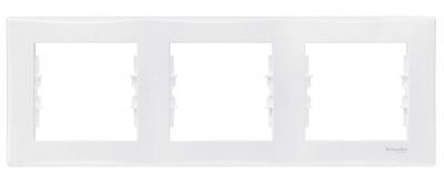 Schneider Electric Sedna Белый Рамка 3-постовая горизонтальная купить в интернет-магазине Азбука Сантехники