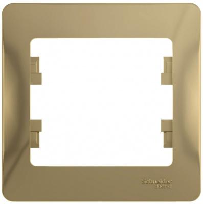 Schneider Electric Glossa Титан Рамка 1-постовая купить в интернет-магазине Азбука Сантехники