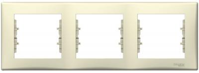 Schneider Electric Sedna Бежевый Рамка 3-постовая горизонтальная купить в интернет-магазине Азбука Сантехники