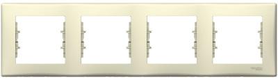 Schneider Electric Sedna Бежевый Рамка 4-постовая горизонтальная купить в интернет-магазине Азбука Сантехники