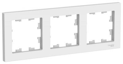 Schneider Electric AtlasDesign Белый Рамка 3-постовая универсальная купить в интернет-магазине Азбука Сантехники