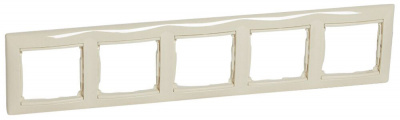 Legrand Valena Слоновая кость Рамка 5-ая горизонтальная купить в интернет-магазине Азбука Сантехники