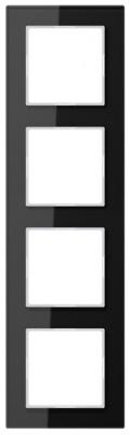 Jung A creation Стекло Черный Рамка 4-постовая купить в интернет-магазине Азбука Сантехники