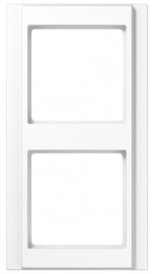 Jung A 500 Белый Рамка 2-постовая купить в интернет-магазине Азбука Сантехники