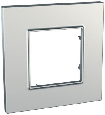 Schneider Electric Unica Quadro Metallized Серебро Рамка 1-ая купить в интернет-магазине Азбука Сантехники