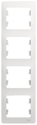 Schneider Electric Glossa Белый Рамка 4-постовая вертикальная купить в интернет-магазине Азбука Сантехники