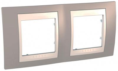 Schneider Electric Unica Хамелеон Коричневый/Бежевый Рамка 2-ая горизонтальная купить в интернет-магазине Азбука Сантехники