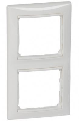 Legrand Valena Белый Рамка 2-ая вертикальная купить в интернет-магазине Азбука Сантехники