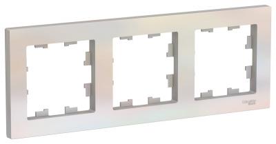 Schneider Electric AtlasDesign Жемчуг Рамка 3-постовая универсальная купить в интернет-магазине Азбука Сантехники