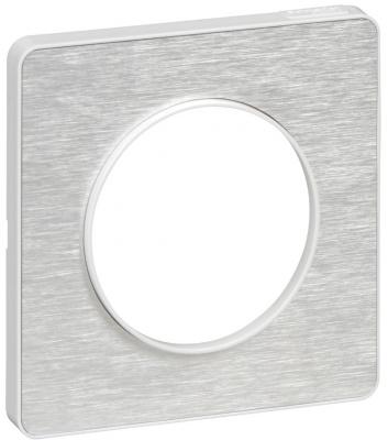 Schneider Electric Odace Алюминий Мартель/Белый Рамка 1 пост купить в интернет-магазине Азбука Сантехники