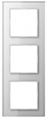 Jung A creation Стекло Белый Рамка 3-постовая купить в интернет-магазине Азбука Сантехники