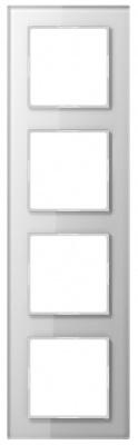 Jung A creation Стекло Белый Рамка 4-постовая купить в интернет-магазине Азбука Сантехники