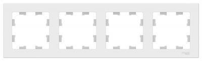 Schneider Electric AtlasDesign Белый Рамка 4-постовая универсальная купить в интернет-магазине Азбука Сантехники