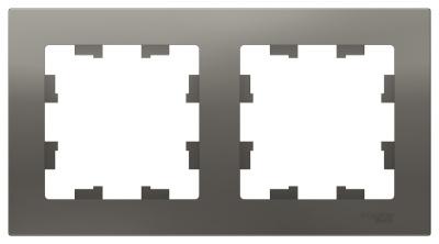 Schneider Electric AtlasDesign Сталь Рамка 2-постовая универсальная купить в интернет-магазине Азбука Сантехники