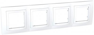 Schneider Electric Unica Белый Рамка 4-ая купить в интернет-магазине Азбука Сантехники