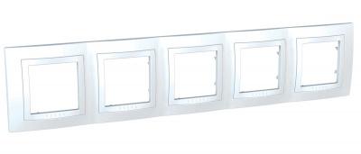 Schneider Electric Unica Белый Рамка 5-ая купить в интернет-магазине Азбука Сантехники