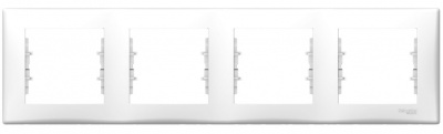 Schneider Electric Sedna Белый Рамка 4-постовая горизонтальная купить в интернет-магазине Азбука Сантехники