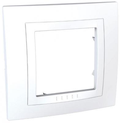 Schneider Electric Unica Белый Рамка 1-ая литая купить в интернет-магазине Азбука Сантехники
