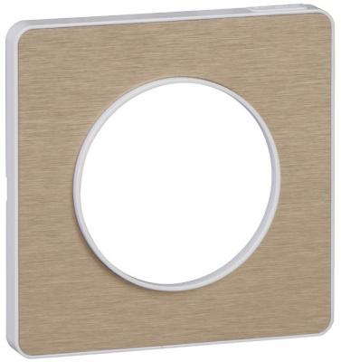 Schneider Electric Odace Полированная бронза/Белый Рамка 1 пост купить в интернет-магазине Азбука Сантехники