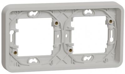 Schneider Electric Mureva Styl Белый Рамка 2-пост горизонтальная IP55 купить в интернет-магазине Азбука Сантехники