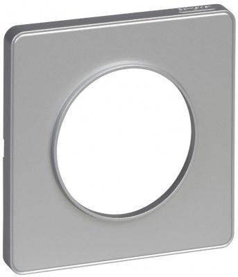 Schneider Electric Odace Алюминий/Алюминий Рамка 1 пост купить в интернет-магазине Азбука Сантехники