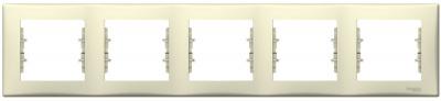Schneider Electric Sedna Бежевый Рамка 5-постовая горизонтальная купить в интернет-магазине Азбука Сантехники
