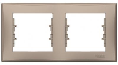 Schneider Electric Sedna Титан Рамка 2-постовая горизонтальная купить в интернет-магазине Азбука Сантехники