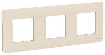 Schneider Electric Unica New Studio Mono Бежевый Рамка 3-постовая купить в интернет-магазине Азбука Сантехники