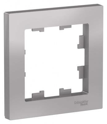 Schneider Electric AtlasDesign Алюминий Рамка 1-постовая купить в интернет-магазине Азбука Сантехники