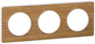 Schneider Electric Odace Ольха/Белый Рамка 3 поста купить в интернет-магазине Азбука Сантехники