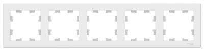 Schneider Electric AtlasDesign Белый Рамка 5-постовая универсальная купить в интернет-магазине Азбука Сантехники