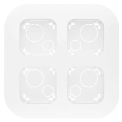 Legrand Quteo Белый Рамка накладного монтажа 4 поста IP20 купить в интернет-магазине Азбука Сантехники