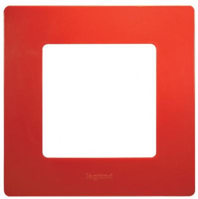 Legrand Etika Красный Рамка 1 пост купить в интернет-магазине Азбука Сантехники