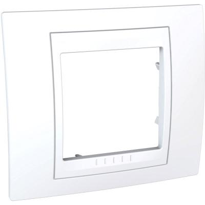 Schneider Electric Unica Хамелеон Белый/Белый Рамка 1-ая купить в интернет-магазине Азбука Сантехники