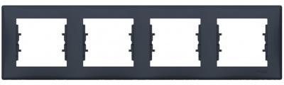 Schneider Electric Sedna Графит Рамка 4-постовая горизонтальная купить в интернет-магазине Азбука Сантехники