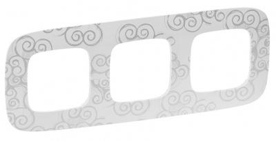 Legrand Valena Allure Нарцисс хром Рамка 3 поста купить в интернет-магазине Азбука Сантехники