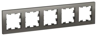 Schneider Electric AtlasDesign Сталь Рамка 5-постовая универсальная купить в интернет-магазине Азбука Сантехники