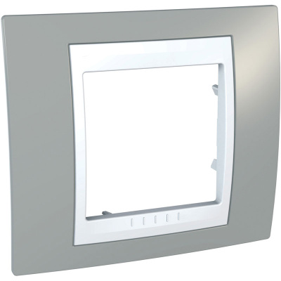 Schneider Electric Unica Хамелеон Серый/Белый Рамка 1-ая купить в интернет-магазине Азбука Сантехники