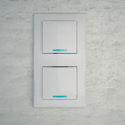 Schneider Electric Sedna Белый Рамка 2-постовая вертикальная купить в интернет-магазине Азбука Сантехники