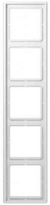Jung LS 990 Белый Рамка 5-постовая купить в интернет-магазине Азбука Сантехники