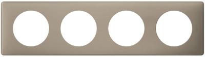 Legrand Celiane Грэй перкаль Рамка 4 поста / 2+2+2+2 мод купить в интернет-магазине Азбука Сантехники