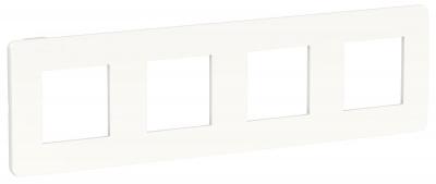 Schneider Electric Unica New Studio Color Белый/Белый Рамка 4-постовая купить в интернет-магазине Азбука Сантехники