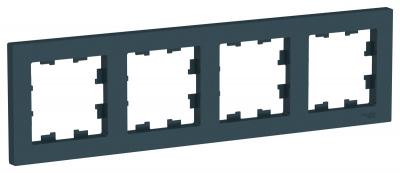 Schneider Electric AtlasDesign Изумруд Рамка 4-постовая универсальная купить в интернет-магазине Азбука Сантехники